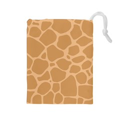 Autumn Animal Print 10 Drawstring Pouches (large)