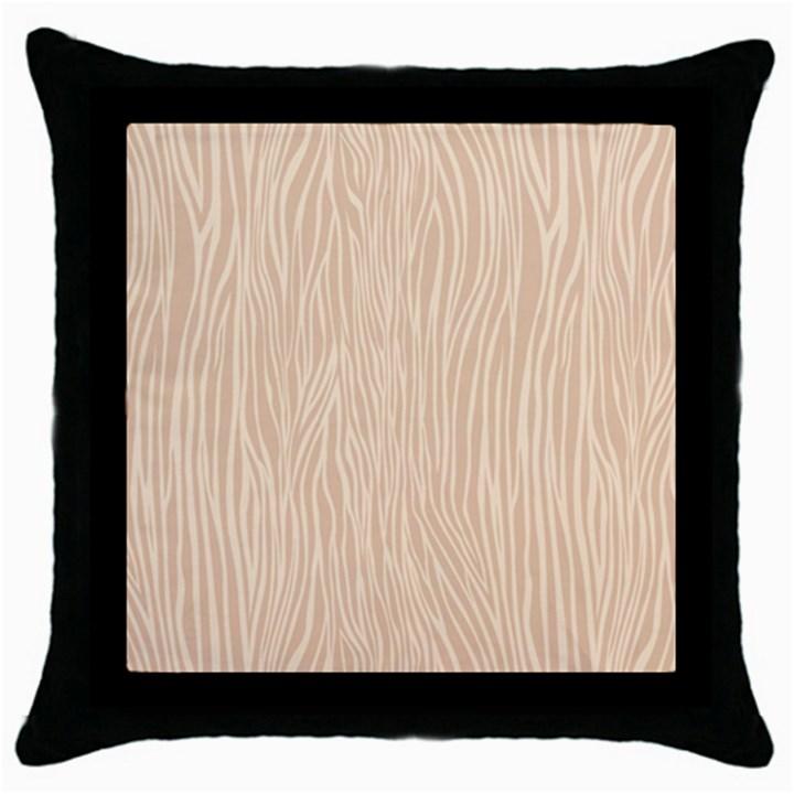 Autumn Animal Print 11 Throw Pillow Case (Black)