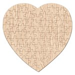 Autumn Animal Print 11 Jigsaw Puzzle (Heart) Front