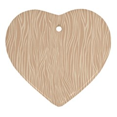 Autumn Animal Print 11 Heart Ornament (two Sides)