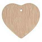Autumn Animal Print 11 Heart Ornament (Two Sides) Back