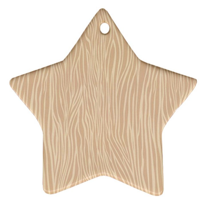 Autumn Animal Print 11 Star Ornament (Two Sides)