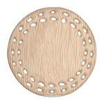 Autumn Animal Print 11 Round Filigree Ornament (Two Sides) Front