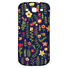 Cute Doodle Flowers 1 Samsung Galaxy S3 S Iii Classic Hardshell Back Case
