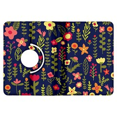 Cute Doodle Flowers 1 Kindle Fire Hdx Flip 360 Case