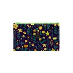 Cute Doodle Flowers 2 Cosmetic Bag (XS) Front