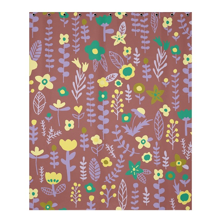Cute Doodle Flowers 3 Shower Curtain 60  x 72  (Medium)
