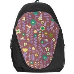 Cute Doodle Flowers 3 Backpack Bag