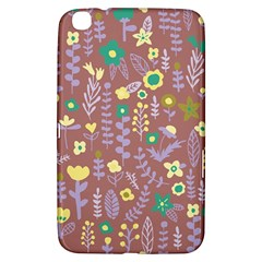 Cute Doodle Flowers 3 Samsung Galaxy Tab 3 (8 ) T3100 Hardshell Case