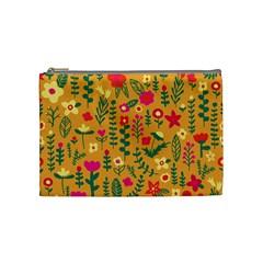 Cute Doodle Flowers 4 Cosmetic Bag (medium)