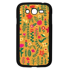 Cute Doodle Flowers 4 Samsung Galaxy Grand Duos I9082 Case (black)