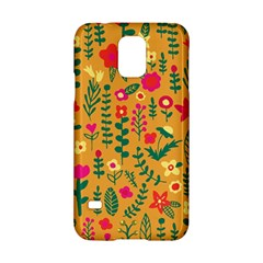 Cute Doodle Flowers 4 Samsung Galaxy S5 Hardshell Case