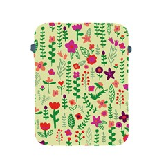 Cute Doodle Flowers 5 Apple Ipad 2/3/4 Protective Soft Cases