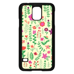 Cute Doodle Flowers 5 Samsung Galaxy S5 Case (black)
