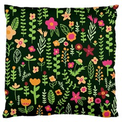 Cute Doodle Flowers 7 Large Cushion Case (one Side)