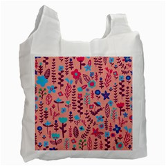 Cute Doodle Flowers 8 Recycle Bag (one Side)