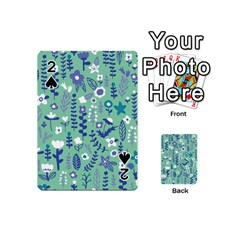 Cute Doodle Flowers 9 Playing Cards 54 (mini)