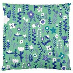 Cute Doodle Flowers 9 Large Cushion Case (two Sides)
