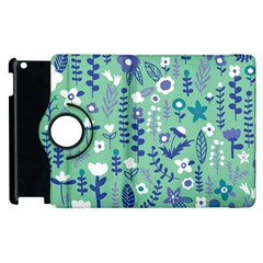 Cute Doodle Flowers 9 Apple Ipad 2 Flip 360 Case