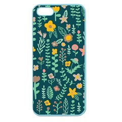 Cute Doodle Flowers 10 Apple Seamless Iphone 5 Case (color)