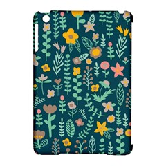 Cute Doodle Flowers 10 Apple Ipad Mini Hardshell Case (compatible With Smart Cover)