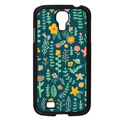 Cute Doodle Flowers 10 Samsung Galaxy S4 I9500/ I9505 Case (black)