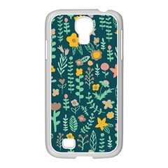Cute Doodle Flowers 10 Samsung Galaxy S4 I9500/ I9505 Case (white)