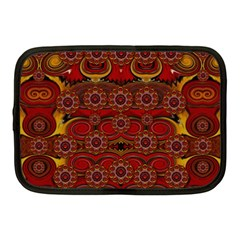 Pumkins  In  Gold And Candles Smiling Netbook Case (medium)