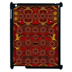 Pumkins  In  Gold And Candles Smiling Apple Ipad 2 Case (black)