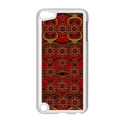 Pumkins  In  Gold And Candles Smiling Apple Ipod Touch 5 Case (white)