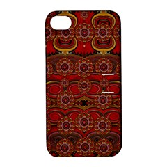 Pumkins  In  Gold And Candles Smiling Apple Iphone 4/4s Hardshell Case With Stand