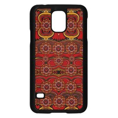 Pumkins  In  Gold And Candles Smiling Samsung Galaxy S5 Case (black)