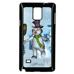 Funny Grimly Snowman In A Winter Landscape Samsung Galaxy Note 4 Case (black)
