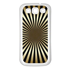 Art Deco Goldblack Samsung Galaxy S3 Back Case (white)