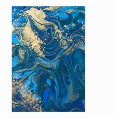 Ocean Blue Gold Marble Small Garden Flag (two Sides)