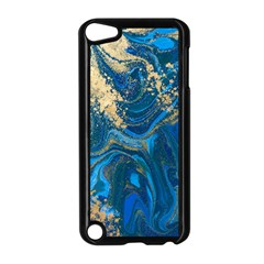 Ocean Blue Gold Marble Apple Ipod Touch 5 Case (black)
