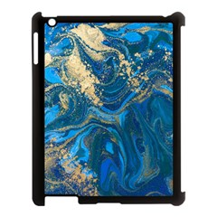 Ocean Blue Gold Marble Apple Ipad 3/4 Case (black)