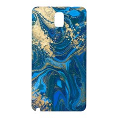 Ocean Blue Gold Marble Samsung Galaxy Note 3 N9005 Hardshell Back Case
