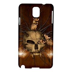 Awesome Skull With Rat On Vintage Background Samsung Galaxy Note 3 N9005 Hardshell Case