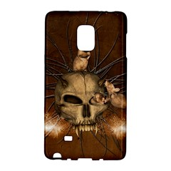 Awesome Skull With Rat On Vintage Background Galaxy Note Edge
