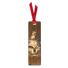 Awesome Skull With Rat On Vintage Background Small Book Marks