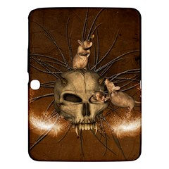 Awesome Skull With Rat On Vintage Background Samsung Galaxy Tab 3 (10 1 ) P5200 Hardshell Case