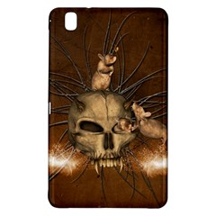 Awesome Skull With Rat On Vintage Background Samsung Galaxy Tab Pro 8 4 Hardshell Case