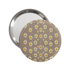 Star Fall Of Fantasy Flowers On Pearl Lace 2 25  Handbag Mirrors