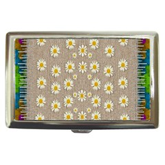 Star Fall Of Fantasy Flowers On Pearl Lace Cigarette Money Cases