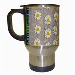Star Fall Of Fantasy Flowers On Pearl Lace Travel Mugs (white)