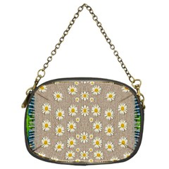Star Fall Of Fantasy Flowers On Pearl Lace Chain Purses (two Sides)