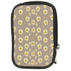 Star Fall Of Fantasy Flowers On Pearl Lace Compact Camera Cases