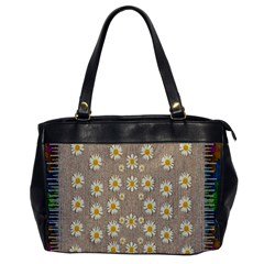 Star Fall Of Fantasy Flowers On Pearl Lace Office Handbags