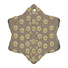 Star Fall Of Fantasy Flowers On Pearl Lace Snowflake Ornament (two Sides)